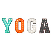 Yoga Workout Fitness Pilates Studio Club Gym Rustic Metal Marquee Light Up Sign
