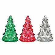 Waterford - Crystal Mini Tree Set Of 3 - Red, White And Red