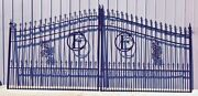 Includes Post Package Driveway Gate 14ft Wd Dw Steel Iron Yard Residential