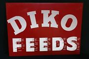 Vintage Agriculture Advertising Ditko Feed And Seed Farm Sign 14