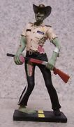 Figurine Undead Zombie Sheriff Law Enforcement With Brains Lunch New W/ Gift Box