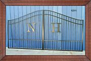 New Orleans Style Steel Driveway Gate 12and039 Inc Post Package Yard Home Security