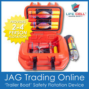 Life Cell And039trailer Boatand039 Flotation Device Marine Safety For 2-4 People Overboard