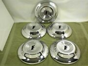 1951 Ford Dog Dish Hubcaps Set Of 5 51 Ford