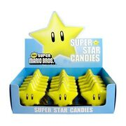 Nintendo New Super Mario Brothers Super Star Candy Embossed Metal Tins Box Of 18