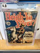 Heigh-yo Silver 710 Whitman 1938 Cgc 6.0 Only 2 Copies Graded This High