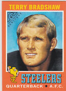 Terry Bradshaw Rp Rc Topps Gallery Heritage Rookie Card Pittsburgh Steelers