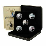 Tuvalu Famous Ballets 1 2010 5 Coin Set Proof Silver Crowns Mint Box And Coa