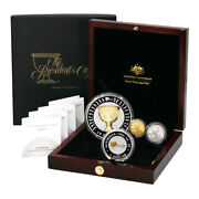 Australia Golf Presidents Cup Four Coin Gold And Silver Set 2011 Limited Edition B