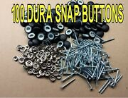 100-dura-snap Upholstery Buttons 30-36 With 3/4 -1 1/2 Screw Studs-any Color
