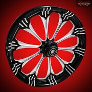 2008-2019 Harley Black Contrast 30 Inch Front Wheel And Floating Rotors Warlock