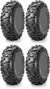 Four 4 Maxxis Bighorn Radial Atv Tires Set 2 Front 28x10-14 And 2 Rear 28x10-14