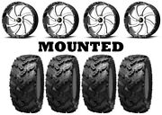 Kit 4 Interco Reptile Tires 30x10-20 On Msa M36 Switch Machined Wheels Can