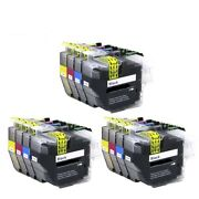 12 X Ink Cartridges Nonoem Alternative For Brother - Lc3219xl Lc3217 Bcm And Y