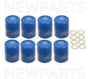 Set Of 8pc Engine Oil Filters And 8pc Drain Plug Gaskets Genuine For Acura Honda