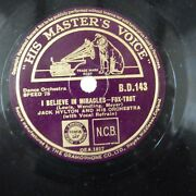 78rpm Jack Hylton I Believe In Miracles / She Wore A Little Jacket , Hmv B D 143