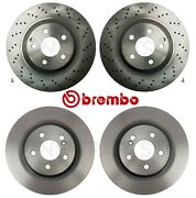 For Mercedes C215 W220 Front And Rear Vented Coated Disc Brake Rotors Kit Brembo