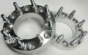 Pair Billet Aluminum 8 Lug X 6-1/2 Bolt Circle Truck Wheel 2 Spacers 14m Studs