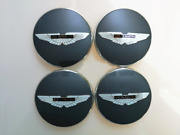 Aston Martin Wheel Centre Badge Light Anthracite With Black Wings 4 Pcs