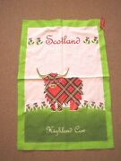 Irish Scot And Welsh Themed Tea Towels Guinness Irish Cottages Highland Cow