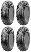 Four 4 Cst Lobo Atv Tires Set 2 Front 32x10-16 And 2 Rear 32x10-16 Ch01