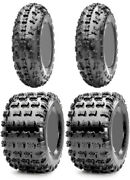 Four 4 Cst Pulse Atv Tires Set 2 Front 22x7-10 And 2 Rear 20x11-9 Cheng Shin