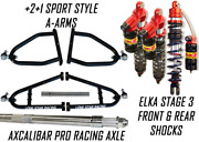 Lonestar +2 A-arms Axle Elka 3 Legacy Front Rear Shocks Suspension Kit Yfz450