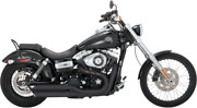 Vance And Hines Black 3 Twinslash Slip On Exhaust Mufflers Harley Dyna Fxdf Fxdwg