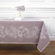 Gourmet By Yves Delorme France - Paisley Design Linen/cotton Tablecloth Napkins