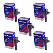 Set Of 5 Acdelco Bs-c1558 Ignition Coil For Chevrolet Gmc Hummer Buick 06-12