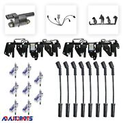 Ignition Pack 8 Coils+ 8 Oem Spark Plugs+ 8 Plug Wires+2 Brackets+2 Harness