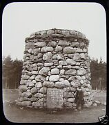 Glass Magic Lantern Slide Battle Of Culloden Monument C1900 Scotland . Photo