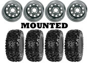 Kit 4 Sedona Rip Saw Tires 26x10-12/26x11-12 On Itp Delta Steel Silver Can