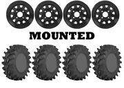 Kit 4 Sti Outback Max Tires 32x10-14 On Itp Delta Steel Black Wheels Can