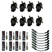 New Coil Pack 8 Adp Coils + 8 Bosch Splugs + 8 Acdelco Wires W/heat Shields