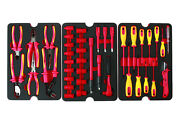 Vde Hybrid Electrical Tool Kit 50 Piece Ratchets Screwdrivers