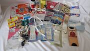 Vtg Assortment Sewing Crafts Buttons Needles Sets Mix Lot Of 49 Pc Trading Cards
