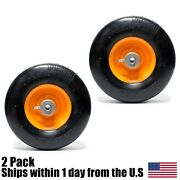 2pk Solid Front Caster Wheel 9x3.50-4 For Scag Mower 48307 4830701 Flat Free