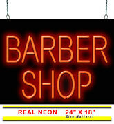 Barber Shop Neon Sign   Jantec   24 X 18   Trimmers Buzz Cut Clippers Style