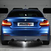 Ssxbm990 For Bmw F22 M235i Coupe Milltek Cat Back Race Version 3andquot Exhaust