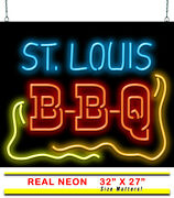St. Louis Bbq Neon Sign | Jantec | 32 X 27 | Barbeque Barbecue Sauce Bar-b-que