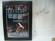 Framed Harley Fxrt Brochure 1983 Advertisement Collectible Fxr Touring Eps17156