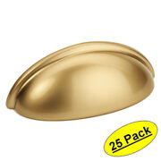 25 Pack Cosmas Cabinet Hardware Gold Champagne Bin Cup Handles Pulls 783gc