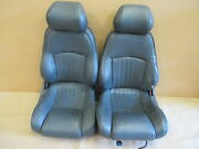 96 Trans Am Convertible Graphite Leather Seat Seats Set 0330-1