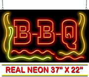 Xl Bbq Neon Sign   Jantec   37 X 22   Cafe Diner Barbeque Barbecue Bar-b-que