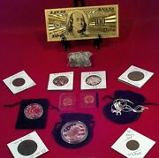 ☆junk Drawer Lot Eagle Necklace☆proof Coins+mint Unc. Coin/gold100/silver+more
