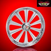 2008-2019 Harley Chrome 26 Inch Front Wheel Floating Rotors Redemption