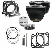 Sands Cycle M8 Big Bore Cylinder Kit Black 114 128 Harley Touring Softail 17-20