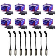 8 Oem Bs-c1511 Ignition Coils + 8 Herlux Spark Plug Wires With Heat Shields