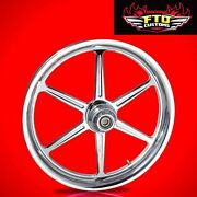 2008-2019 Harley Chrome 23 Inch Front Wheel And Floating Rotors Malice